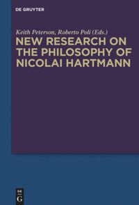 New Research on the Philosophy of Nicolai Hartmann Book Cover