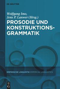 """Cover des Buches """"Prosodie und Konstruktionsgrammatik"""""""