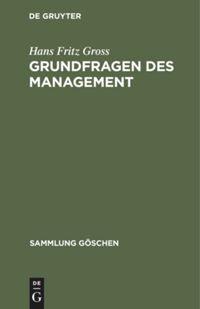 Grundfragen des Management