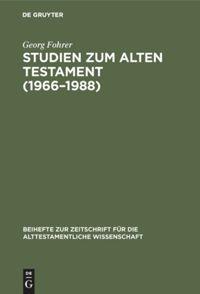 Studien zum Alten Testament (1966–1988)