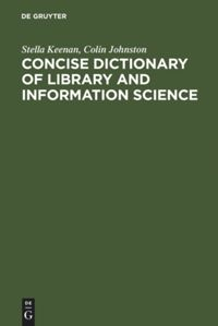 Cover:Concise Dictionary of Library and Information Science