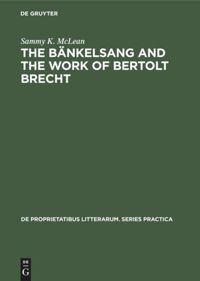 The Bänkelsang and the work of Bertolt Brecht