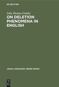 On deletion phenomena in English