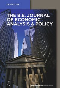 Test Cover Image of:  The B.E. Journal of Economic Analysis & Policy