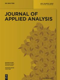 Journal of Applied Analysis