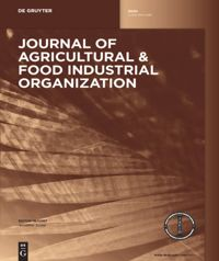 Journal Of Agricultural Food Industrial Organization De Gruyter