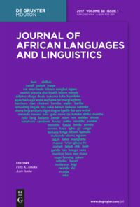 Journal Of African Languages And Linguistics