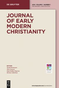Francis Lucas Of Bruges And Textual Criticism Of The Vulgate Before And After The Sixto Clementine 1592 In Journal Of Early Modern Christianity Volume 3 Issue 2 2016