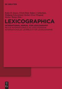 Lexicographica. Internationales Jahrbuch für Lexikographie