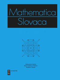 Test Cover Image of:  Mathematica Slovaca
