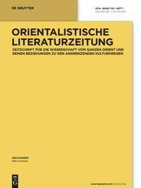Orientalistische Literaturzeitung