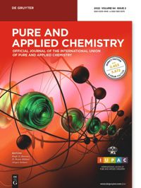 Titelbild von:  Pure and Applied Chemistry