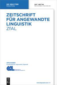 Zeitschrift für Angewandte Linguistik