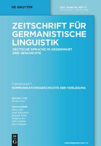 Zeitschrift für germanistische Linguistik.