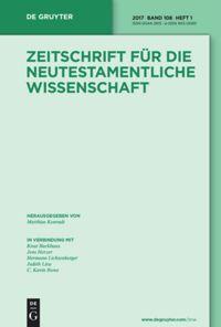Zeitschrift für die neutestamentliche Wissenschaft