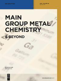 Main Group Metal Chemistry