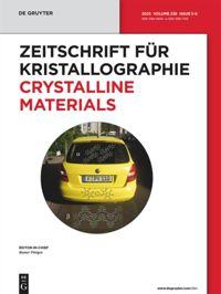 Zeitschrift für Kristallographie - Crystalline Materials