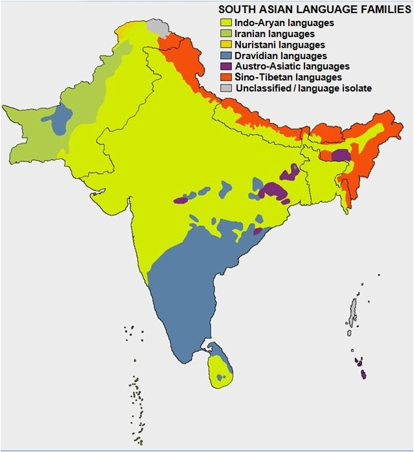 A bird's eye view on South Asian languages through LSI