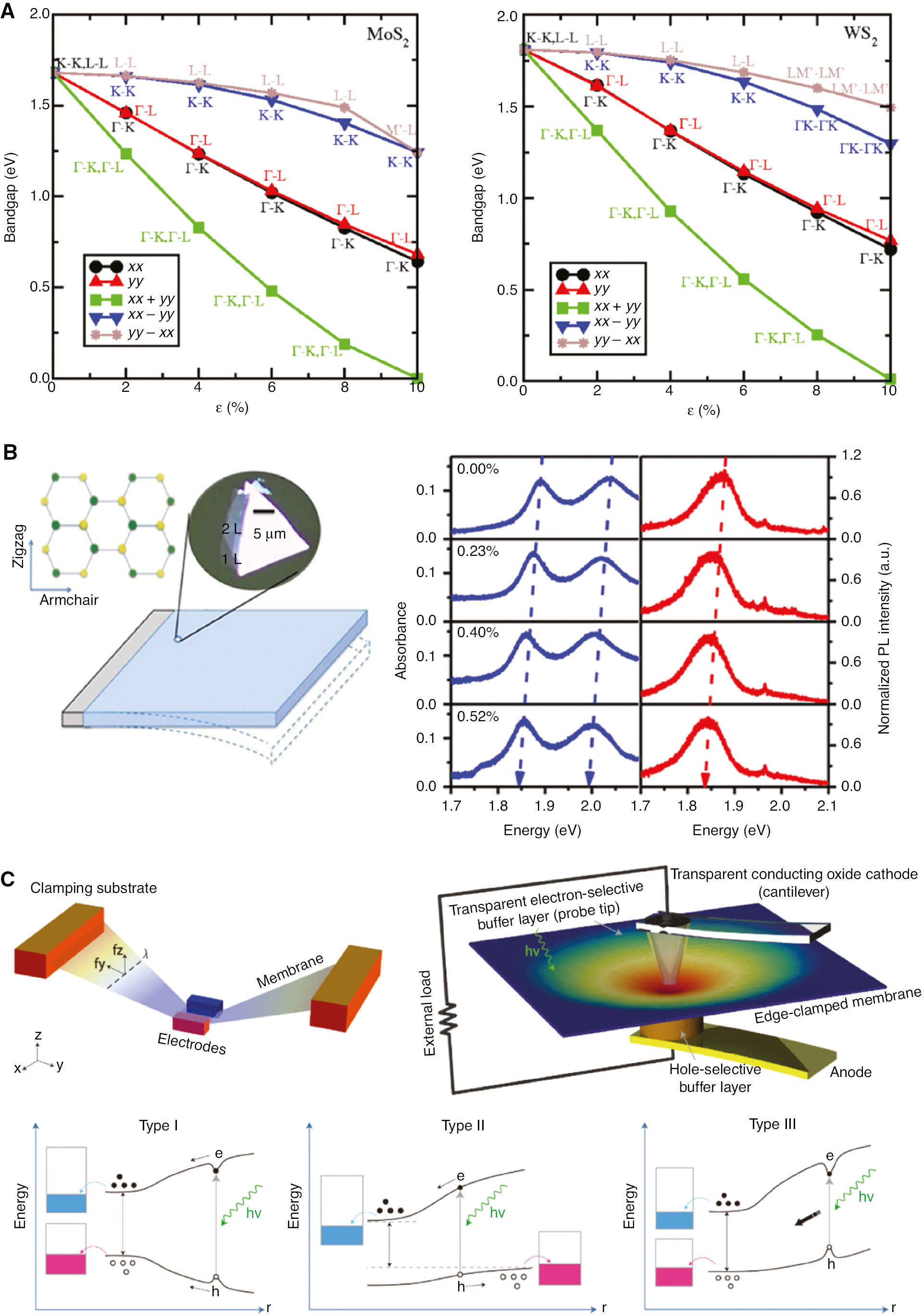 Tunable electronic structure of two dimensional transition metal ...