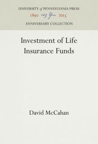 Test Cover Image of:  Investment of Life Insurance Funds